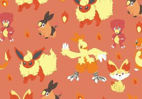 Fire Type Pokemon Pattern
