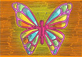 Desenho de linha de borboleta