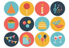 Vector de ícones de aniversários grátis