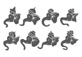 Ganesh paquete de iconos de vectores