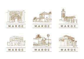 MAROC TOURISTISCHER LANDMARK VEKTOR