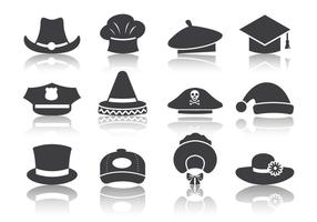 Free Black Hat Icons Vektor