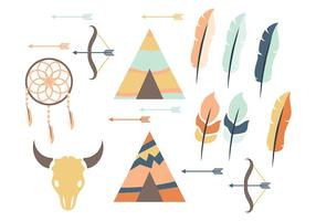 Tipi and Feather Vector Icon
