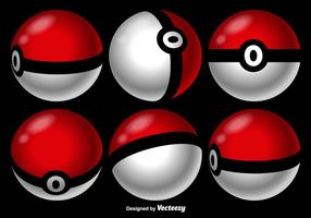 Vector Pokemon Game Balls