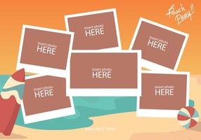 Beach Photo Collage Template