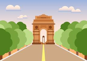 India Gate Illustratie Vector
