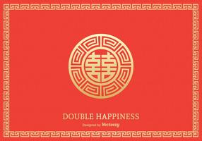 Gratis Double Happiness Symbol Vector Ontwerp
