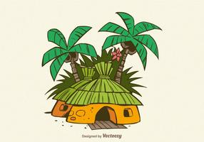 Gratis Jungle Shack Vector Illustration