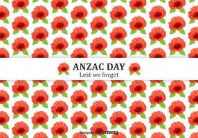 Anzac Day Poppies Vector Background