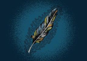 Feather Line Drawing vector