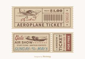 Vector Retro Airplane Tickets