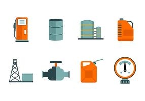 Freie Öl- und Benzinindustrie Icon Vektoren