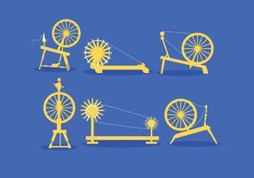 Vector de rueda de hilado