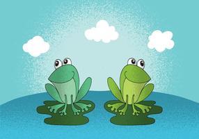 Vecteur grenouilles heureux