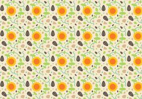 Free Sunflower Pattern Vector