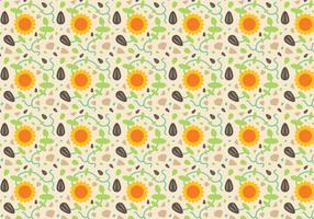 Freie Sonnenblume Muster Vektor