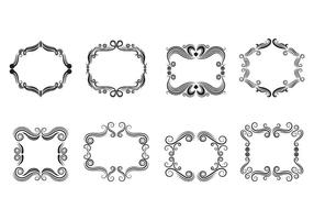 Set Of Cartouche Scrollwork Vectors