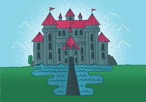 Vetor do castelo de conto de fadas