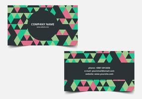 Free vector Colorful Business Card