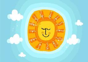 Vetor sol do verão