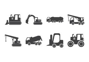 Free Construction Vehicle Silhouette Vector