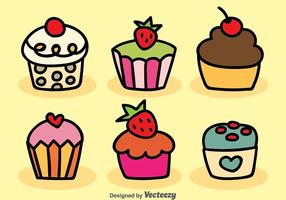 Cartoon Cupcake Vector