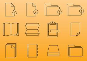 Iconos de documentos de papel vector