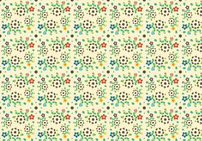 Free Growing Flower Pattern Vector