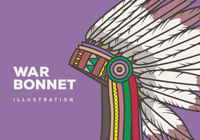 War Bonnet Illustration