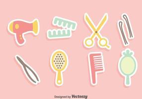 Conjunto de vectores de accesorios de cabello