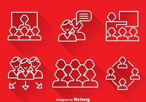 Working Together Outline Icons