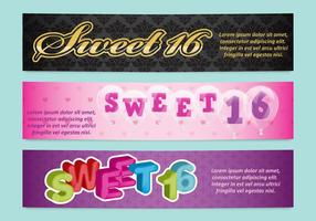 Sweet 16 Banners vector