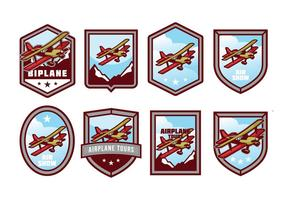 Gratis Biplan Badge Vector Pack