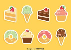 Pastel y helado conjunto de vectores