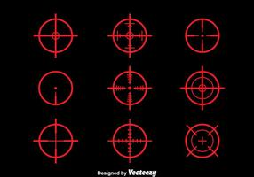 Red Laser Tag Vector Set