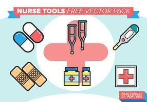 Outils infirmiers pack gratuit de vecteur