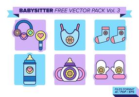 Barnvakt Gratis Vector Pack Vol. 3