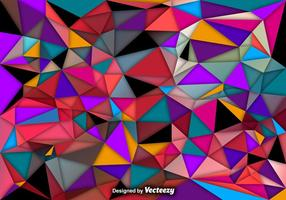 Fundo abstrato vetorial de polígonos coloridos
