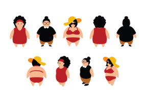 Plus Size Girls Cartoon