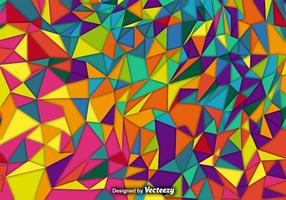 Vector Background With Colorful Polygons
