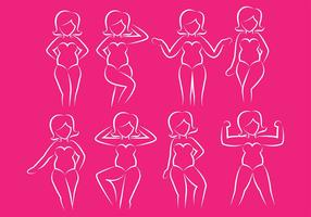 Plus size icons vector