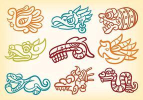 Libre quetzalcoatl iconos vectoriales