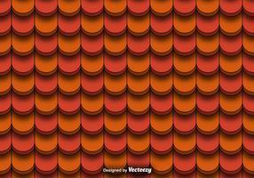 Sömlöst mönster av röd lera takplattor vektor