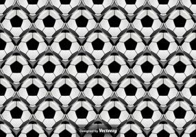 Vector patrón sin fisuras con bolas de fútbol abstracta