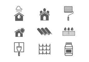 Free Waterproofing and Water Leaked Vector Icons