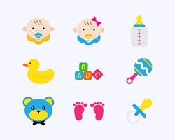 Baby Flat Icons