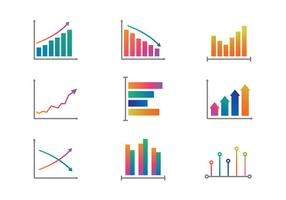 Color Graphs and Charts Vector
