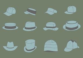 Vintage Headwear Set vector