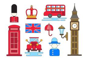 England Vector Icons