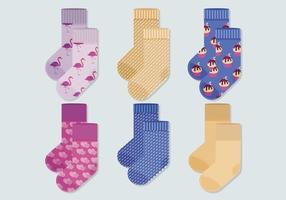 Collection de chaussettes de vecteur
